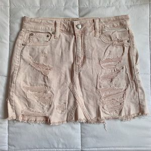 ae distressed mini skirt